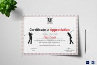 Golf Appreciation Certificate Template regarding Walking Certificate Templates