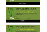 Golf Course Gift Certificate Template Free | Resume Writing regarding Golf Gift Certificate Template
