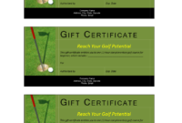 Golf Gift Non Cash Value Voucher – Download This Free intended for Golf Certificate Template Free