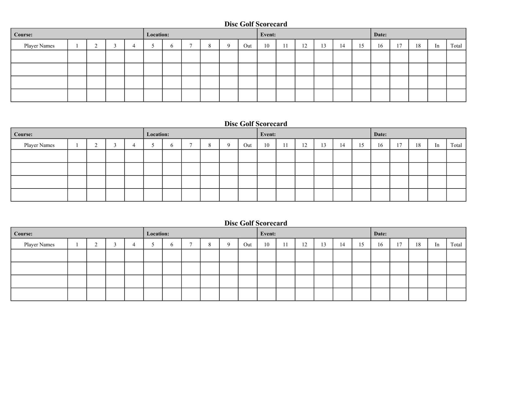 Golf Score Card Template | Golf Crafts, Golf Scorecard, Golf With Regard To Golf Score Cards Template