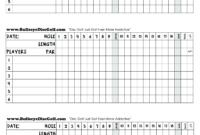 Golf Scorecard – How To Create A Golf Scorecard? Download pertaining to Golf Score Cards Template