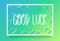Good Luck Card Free Vector Art – (57 Free Downloads) with regard to Good Luck Card Template
