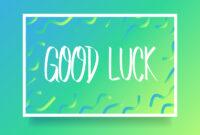 Good Luck Card Free Vector Art – (57 Free Downloads) With Regard To Good Luck Card Template
