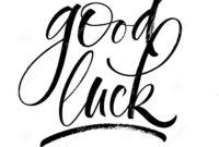 Good Luck Lettering Stock Vector. Illustration Of Goodbye intended for Good Luck Banner Template