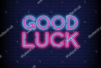 Good Luck Neon Sign Vector Abrick Stock Vector (Royalty Free intended for Good Luck Banner Template