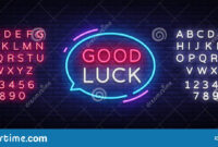 Good Luck Neon Text Vector. Good Luck Neon Sign, Design with regard to Good Luck Banner Template