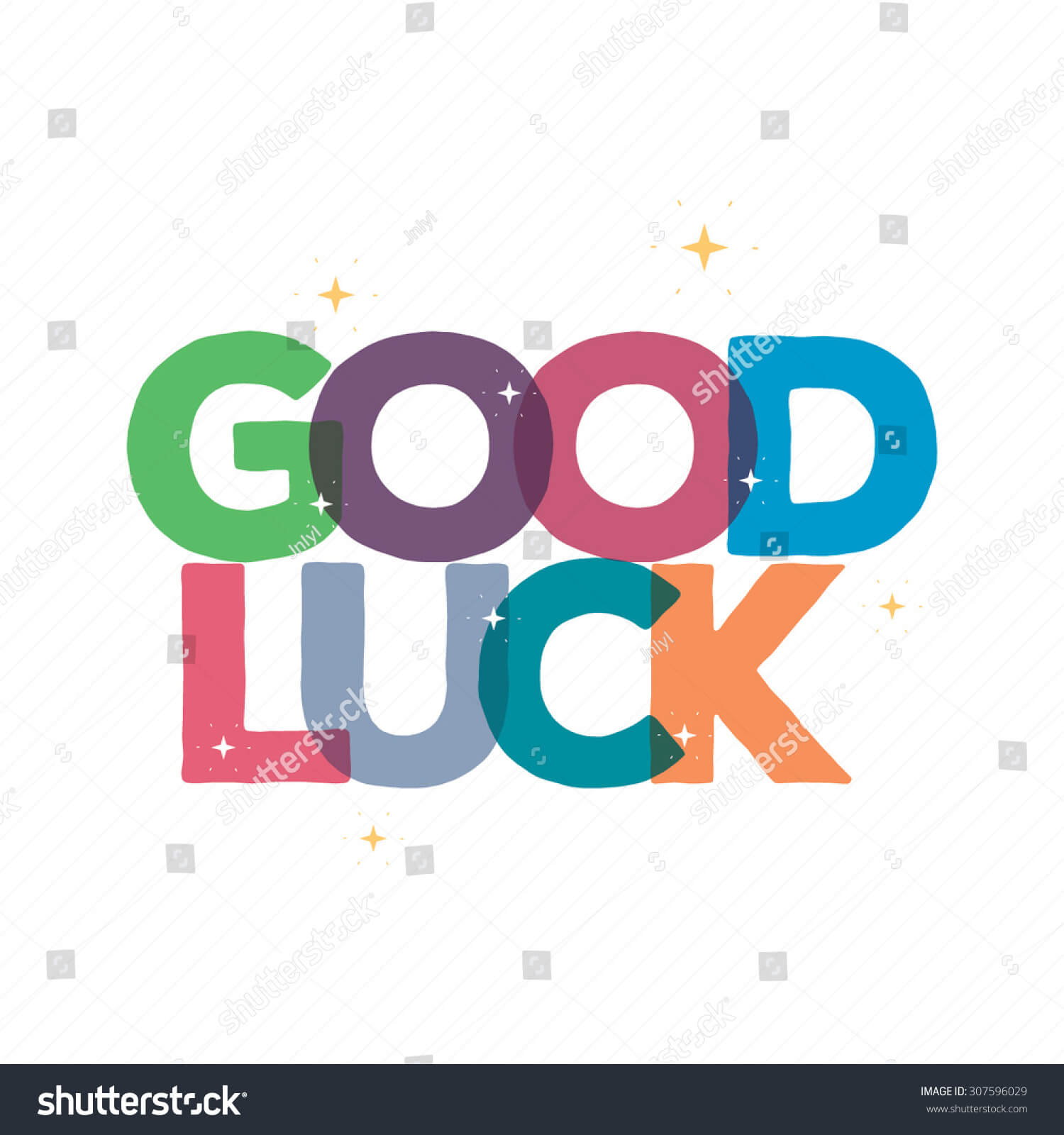 Good Luck Typography Card Designgreeting Card Stock Vector With Good Luck Card Templates