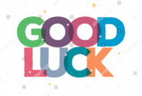 Good Luck Typography Card Designgreeting Card Stock Vector With Regard To Good Luck Card Template