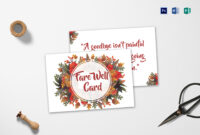 Goodbye Farewell Invitation Card Template regarding Farewell Card Template Word