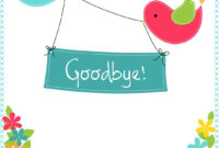 Goodbye From Your Colleagues – Free Good Luck Card regarding Goodbye Card Template