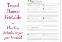 Google Docs Travel Itinerary Template – Ironi.celikdemirsan with regard to Blank Trip Itinerary Template
