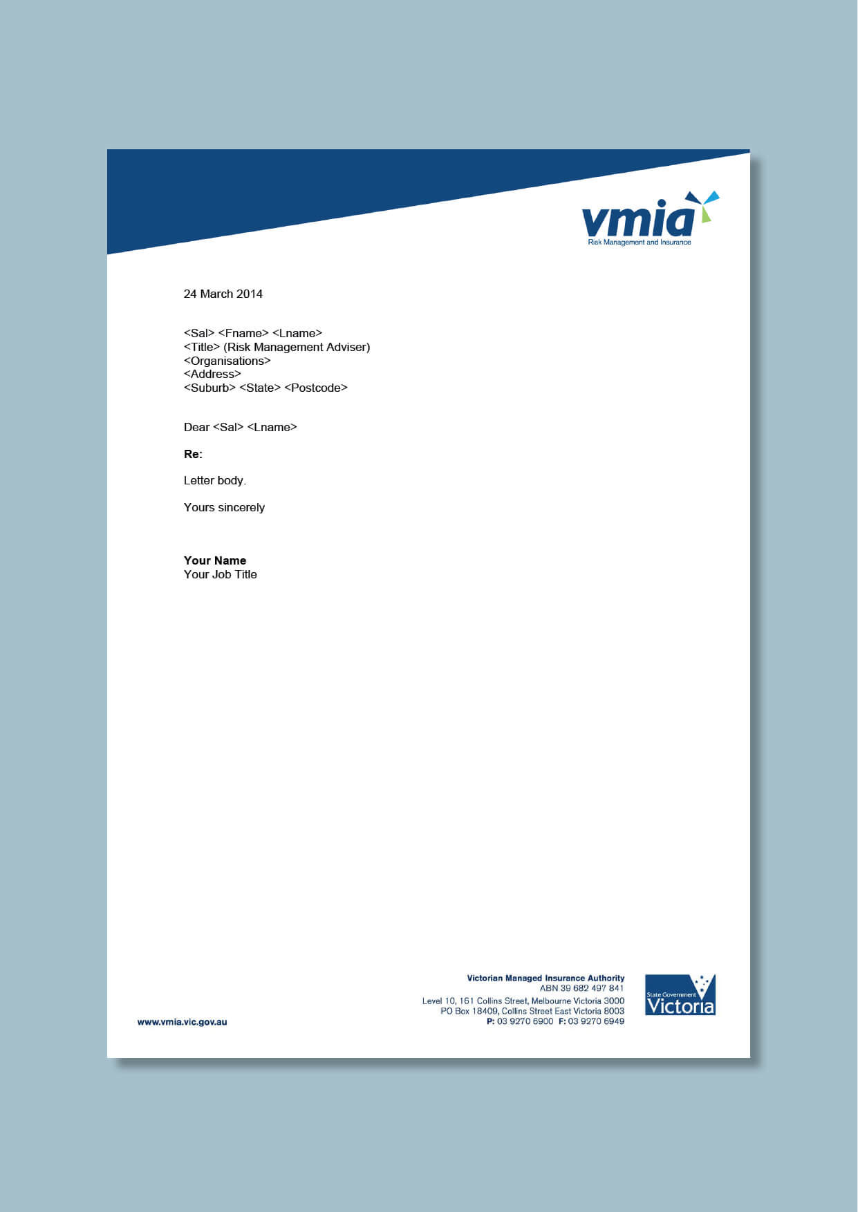 Government Insurance Agency Letterhead #cordestra #word In Headed Letter Template Word