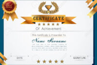 Graceful Certificate Template With Luxury And Modern Pattern,.. throughout Qualification Certificate Template