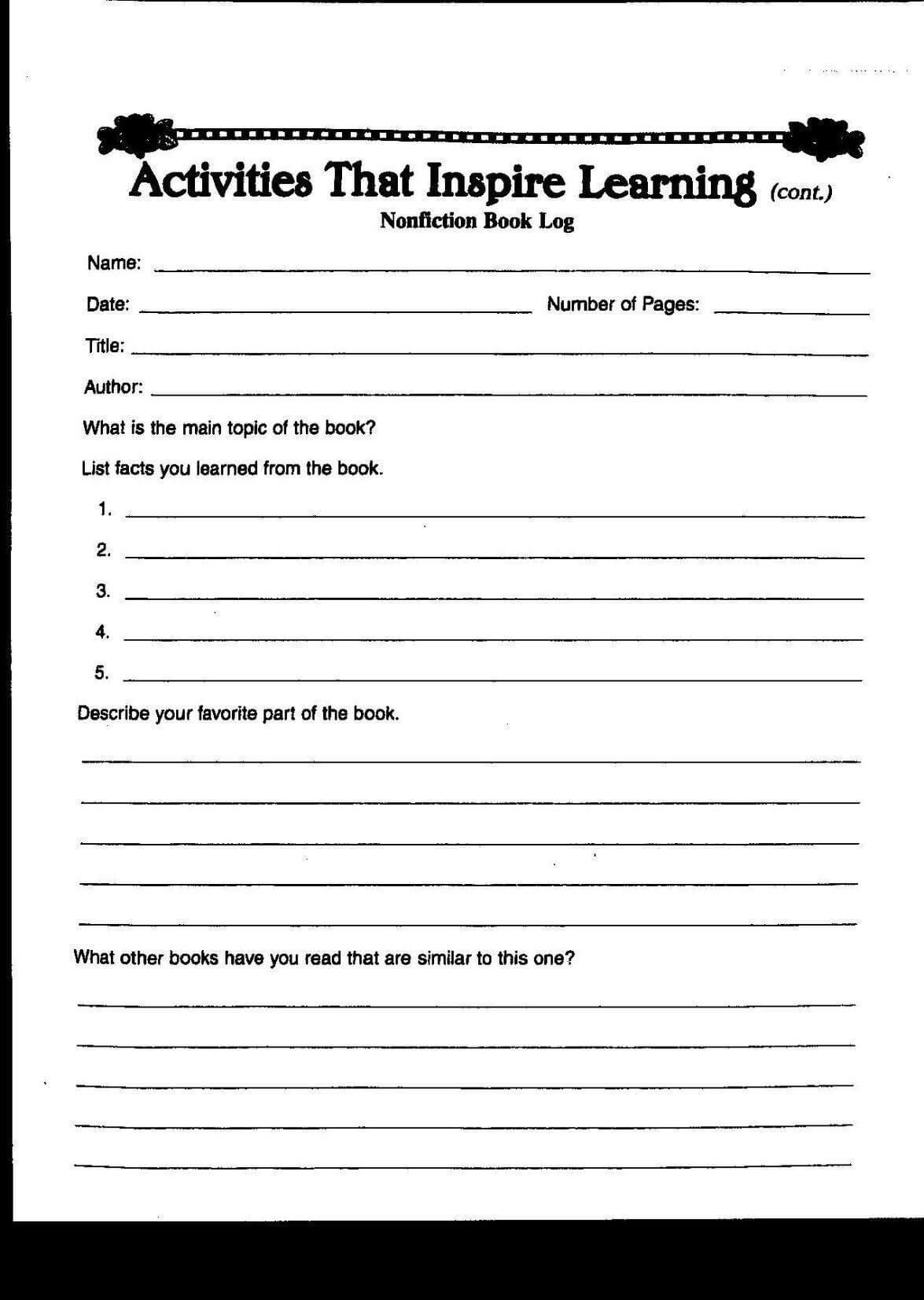 Grade Report Template Aplg Planetariumsorg New 4Th Grade Regarding Book Report Template 4Th Grade