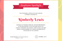 Gradient Employee Recognition Certificate Template throughout Good Job Certificate Template