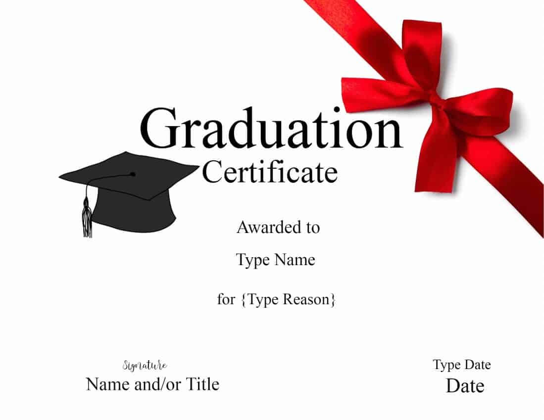 Graduation Gift Certificate Template Free ] - Graduation With Regard To Graduation Gift Certificate Template Free