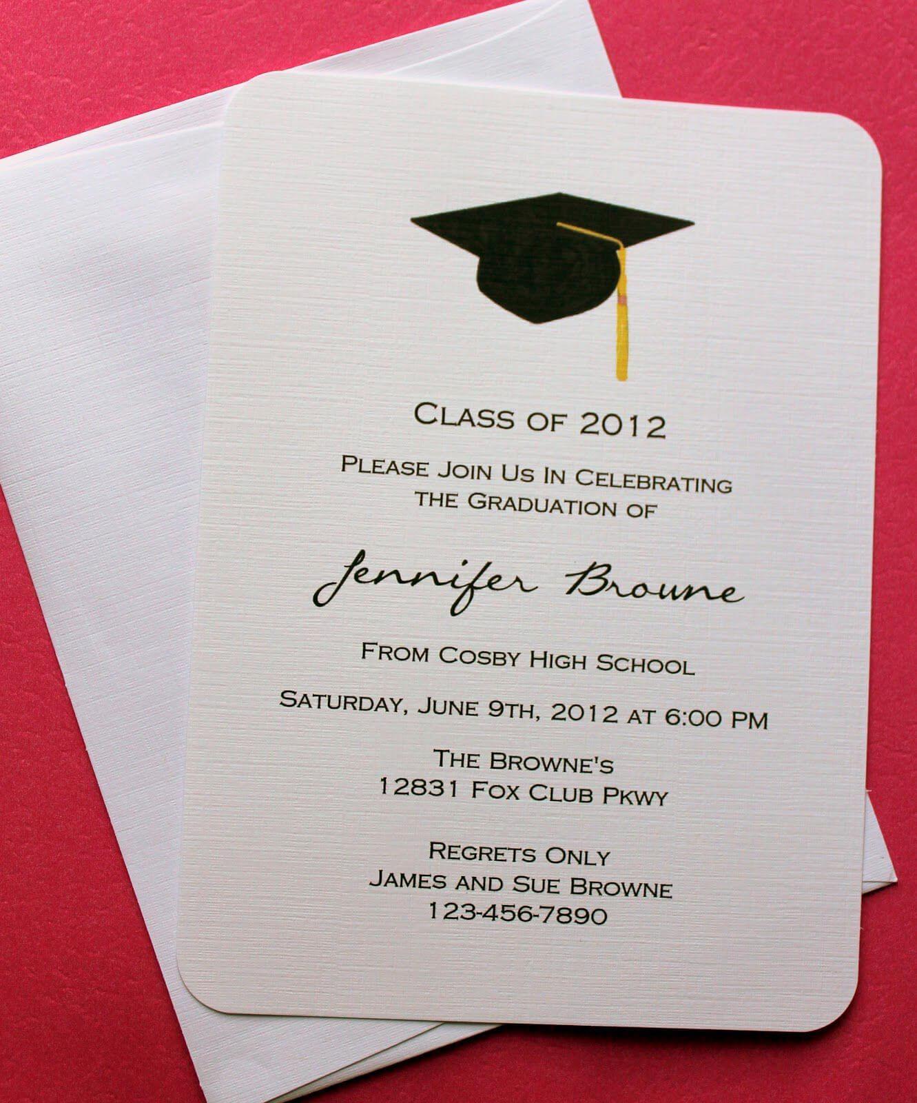 Graduation Invitation Templates Microsoft Word | Graduation Pertaining To Graduation Invitation Templates Microsoft Word