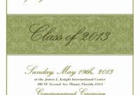 Graduation Invitation Templates Microsoft Word within Graduation Invitation Templates Microsoft Word