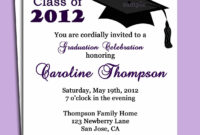Graduation Party Or Announcement Invitation Printabl within Graduation Party Invitation Templates Free Word