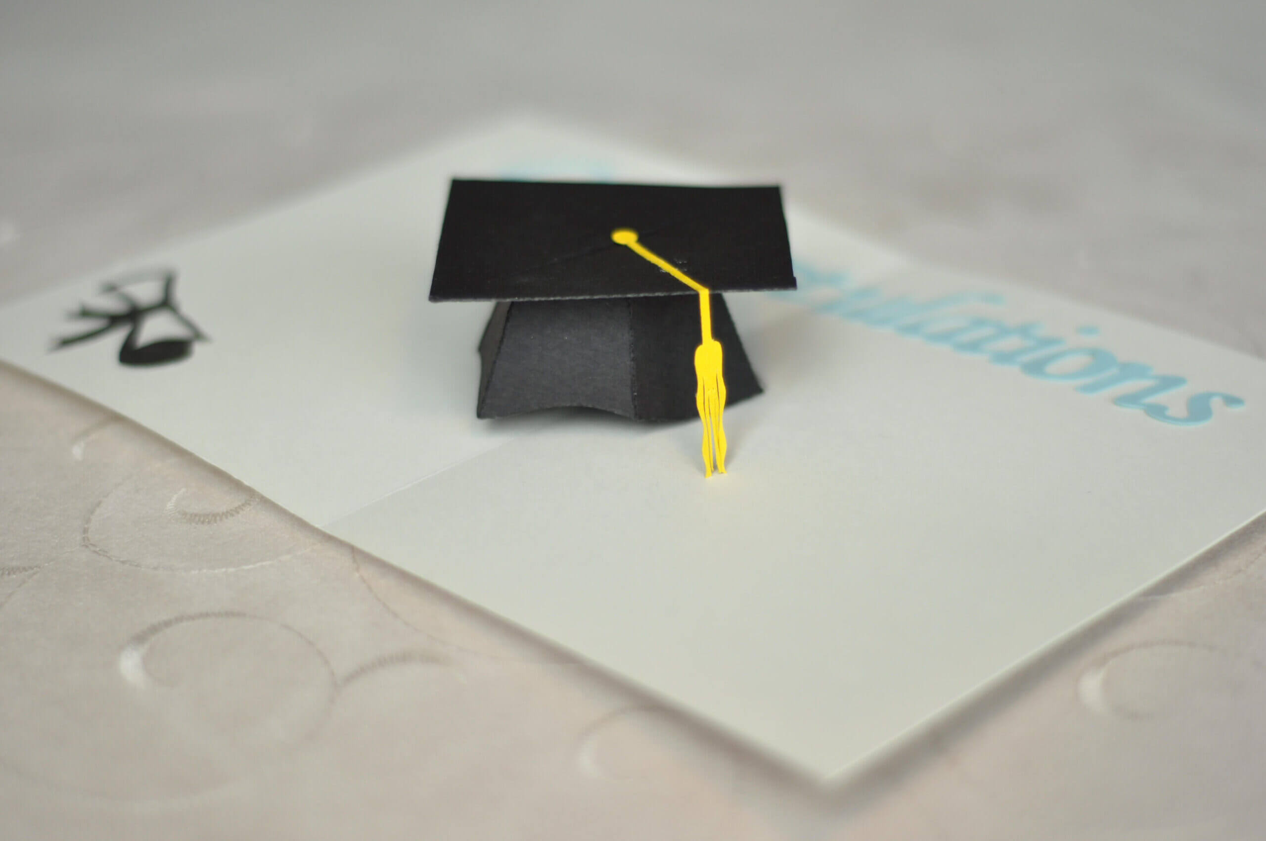 Graduation Pop Up Card: 3D Cap Tutorial   Pop Up Card In Graduation Pop Up Card Template
