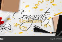 Graduation Vector Banner Template. Background Congrats within Graduation Banner Template