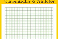 Graph Paper – Customizable And Printable | Perler Bead Patterns with Blank Perler Bead Template