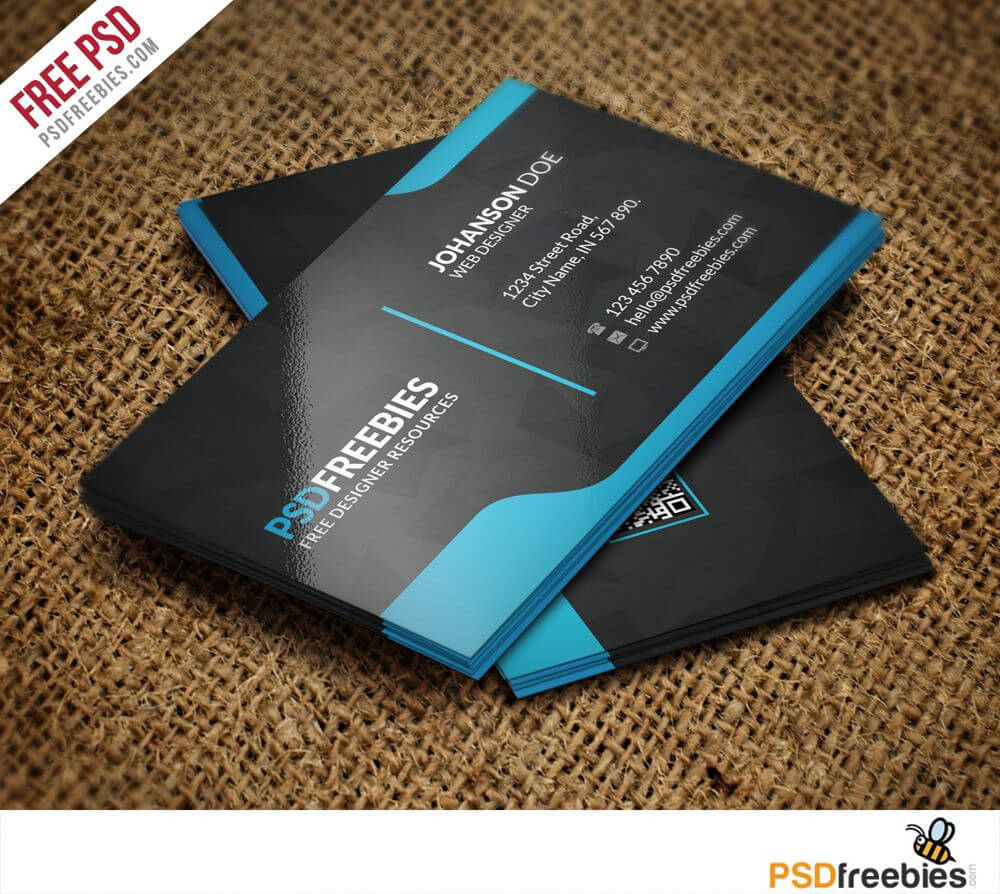 Graphic Designer Business Card Template Free Psd | Free With Regard To Free Psd Visiting Card Templates Download
