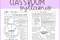 Graphic Syllabus Template Editable | Syllabus Template pertaining to Blank Syllabus Template