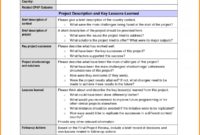 Great Hse Lessons Learned Template 23 Lessons Learnt Report with regard to Hse Report Template