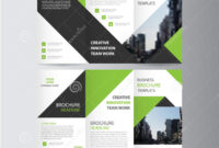 Green Black Elegance Business Trifold Business Leaflet with regard to Free Tri Fold Business Brochure Templates