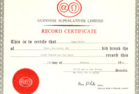 Guinness World Record Certificate Template ] – Guinness in Guinness World Record Certificate Template
