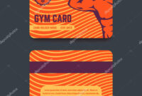 Gym Card Template Design — Stock Vector © Nexusby #184758100 Throughout Gym Membership Card Template