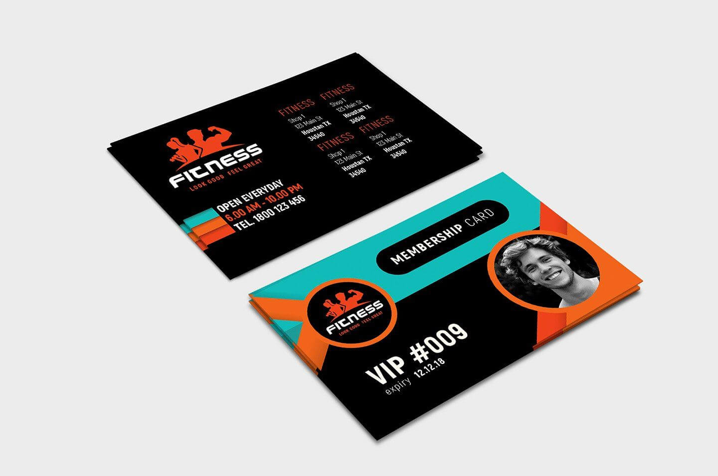 Gym Fitness Membership Card Template #ad , #ad, #illustrator Intended For Gym Membership Card Template