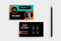 Gym / Fitness Membership Card Template In Psd, Ai & Vector with regard to Template For Membership Cards