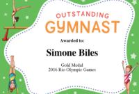 Gymnastics Quotes | Simone Biles, Gabby Douglas & Aly in Gymnastics Certificate Template