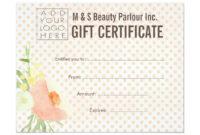 Hair Beauty Salon Gift Certificate Template | Zazzle pertaining to Salon Gift Certificate Template