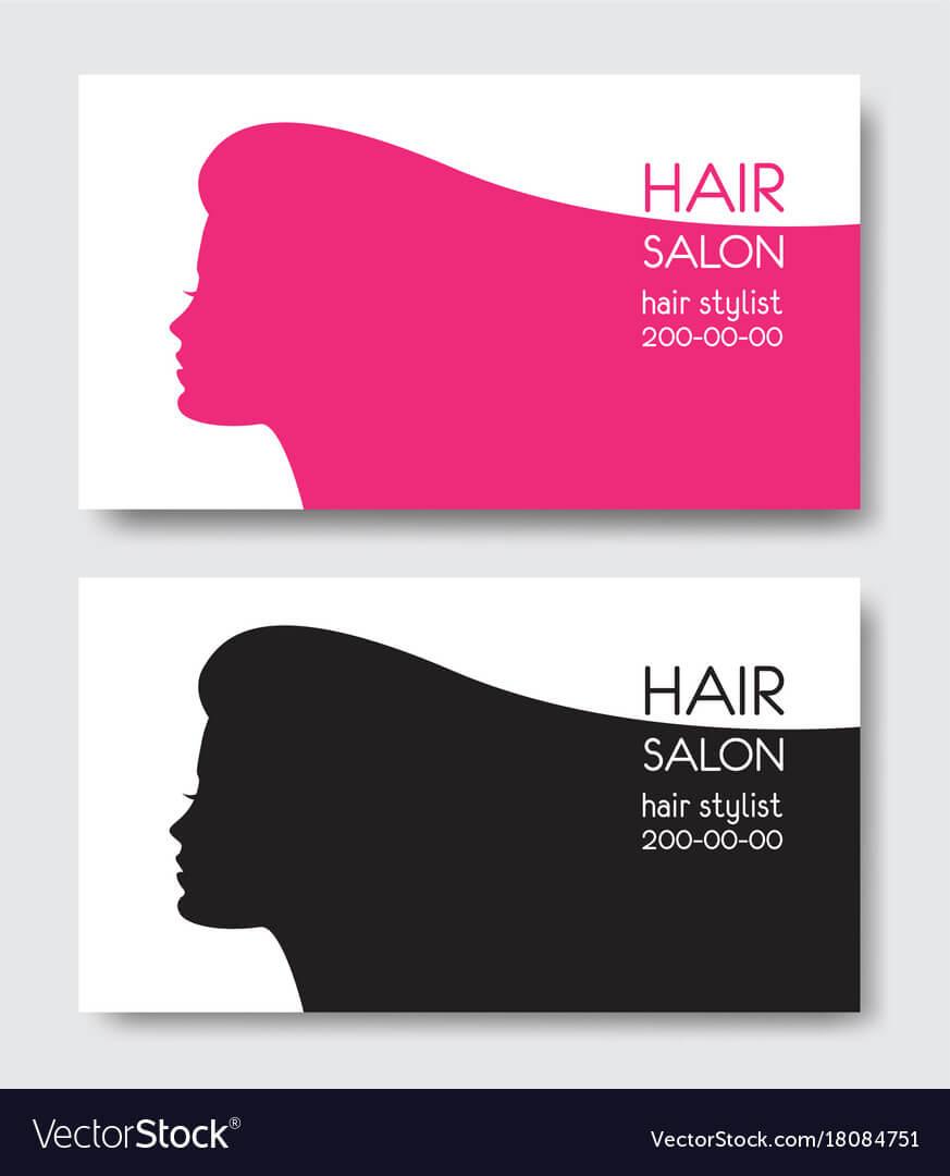 Hair Salon Business Card Templates With Beautiful In Hair Salon Business Card Template