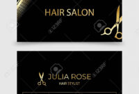 Hair Salon, Hair Stylist Business Card Vector Template with regard to Hair Salon Business Card Template