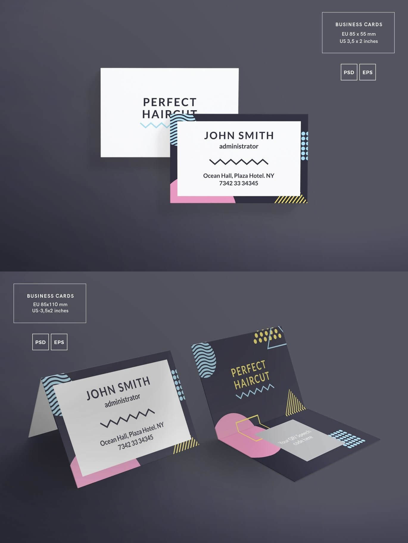 Haircut Masterclass Business Card Template — Adobe Photoshop Intended For Adobe Illustrator Card Template