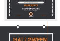 Halloween Best Costume Award Certificate Template #73973 with Halloween Certificate Template