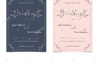 Hand Drawn Doodle Wedding Invitations Design Template. Hand with regard to Wedding Card Size Template