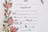 Hand Drawn & Painted Birth Certificate (Perfect For A Little pertaining to Baby Doll Birth Certificate Template