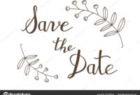 Hand Drawn Save The Date Typography Lettering Poster. Rustic with regard to Save The Date Banner Template