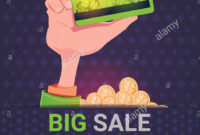 Hand Holding Credit Card Over Big Sale St. Patrick Day within Credit Card Templates For Sale