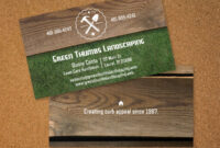 Handyman Business Card Template Image Collections within Lawn Care Business Cards Templates Free