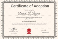Happy Adoption Certificate Template | Adoption Certificate inside Novelty Birth Certificate Template