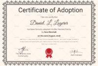 Happy Adoption Certificate Template | Adoption Certificate with Birth Certificate Template For Microsoft Word