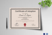 Happy Adoption Certificate Template for Adoption Certificate Template