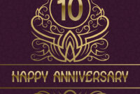 Happy Anniversary Greeting Card Template For Ten inside Template For Anniversary Card