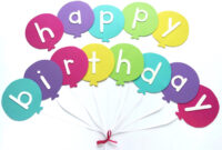 Happy Birthday Banner Diy Template | Balloon Birthday Banner in Diy Birthday Banner Template